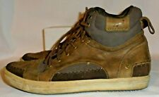 Cushe, Sneaky Feeling, Mens 2-Tone Brown Lea. & Suede Ankle Sneakers, SIZE 10 M