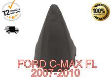 FORD C MAX FL 2007-2010 GENUINE ITALIAN LEATHER GEAR GAITER BLACK STITCH
