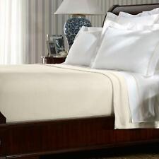 Ralph Lauren One Full/Queen Bed Blanket | 100% Cotton | Regatta Cream
