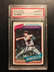 1980 Topps Nolan Ryan #580 PSA 8 NM-MT