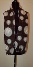 New  Gemsports Polar Scarf Black Fleece Scarf W/ Volleyball Pattern
