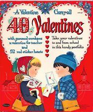Vntg 1961 40 Valentines Paper Doll Lasr Reproduciton~Org Sz Unct Free Sh No1Selr