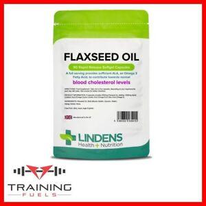 Lindens Flax Seed Oil 1000mg 90 Capsules Omega 3 6 9