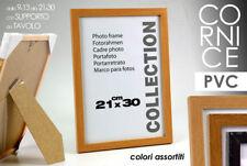 PORTAFOTO CORNICE IN PVC CON SUPPORTO 21*30CM COLORI ASSORTITI MOG-566561