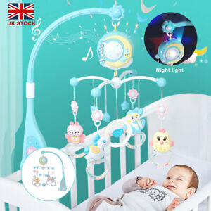 Baby Crib Mobile Musical Bed Bell Toy With Controller Music Night Light Toy