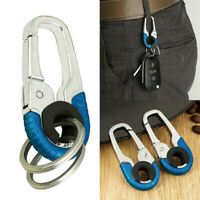 Stainless Steel Buckle Carabiner Keychain Key Ring Hook Lock Outdoor Climbing *1