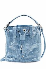 SS15 Barbie MOSCHINO COUTURE Jeremy Scott Sequin Blue Denim Bucket bag $995MSRP