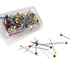 Stecknadeln 120 Stück 40 mm Nadeln mit Kunststoffkopf Nähen Basteln bunt