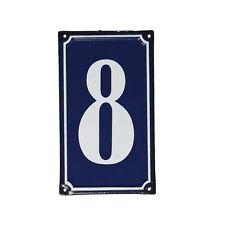 dotcomgiftshop 8 FRENCH BLUE METAL DOOR SIGN