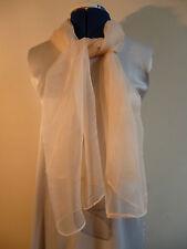 100% silk floaty chiffon scarf.  Light peachy yellow.   NEW