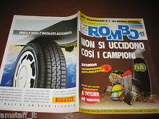 RIVISTA ROMBO 1989/45=AYRTON SENNA=SHIRLEY MULDOWNEY=PUBBLICITA' PIRELLI=