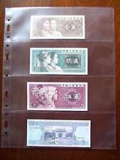 MULTIMASTER SYSTEM BANKNOTE 4 Pocket PAGES 4H Acid Free & Safe - Pack of 10