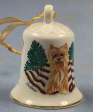 Yorkshire Terrier  Porzellan glocke figur porzellan weihnachtsglocke 107