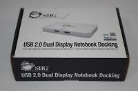 SIIG USB 2.0 Dual Display Notebook Docking-Dock
