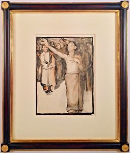 Listed Artist Grigory Efimovich Gluckmann (1898-1973) Signed Painting c. 1922