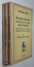 W. NESTLE: GRIECHISCHE RELIGIOSITÄT, Sammlung GÖSCHEN 1032 / 1066 / 1080, 3 Vol.