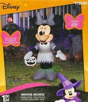 3.5' Gemmy Airblown Inflatable Minnie Mouse in Gray Outfit Halloween Decor