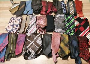 27 Krawatten, Schlips, Binder, Konvolut, Paket, Sammlung