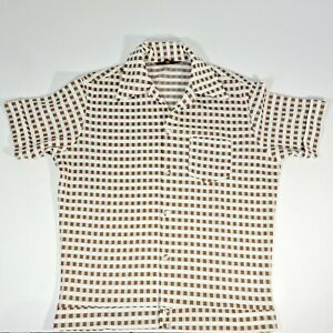 Vintage Crimplene 1960's Shirt Size M