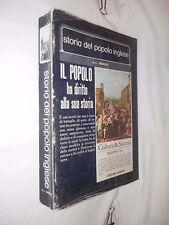STORIA DEL POPOLO INGLESE A L Morton Officina edizioni 1973 diritto alla cultura