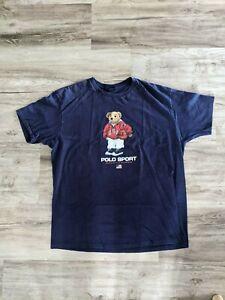 Vintage Ralph Lauren Polo Sport Basketball Bear Tee - XL