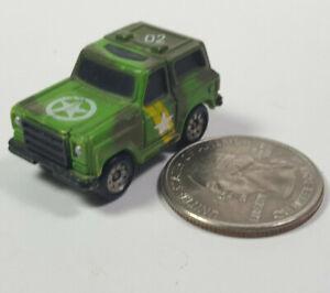 1973-89 ARMY 02 Chevy Blazer Green 4x4 Galoob Micro Machines LGTI Rare Vintage
