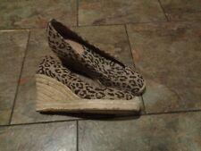 j crew animal print espadrille wedge heels shoes size 7