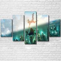 Two World Collide Bioshock Infinite 5 Piece Canvas Art Print Picture Wall Decor