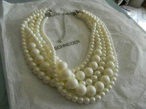 Premier Designs ELIZABETH multi strand pearl necklace RV $69 free ship nwt