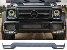 AMG G63 Front Bumper Spoiler Lip with LED Daytime Running Lamps BRABUS STYLE