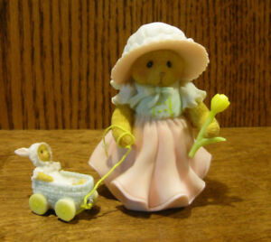 """Cherished Teddies 4051040 LARAINE """"COME WITH ME, THERE'S SPRING TO SEE"""" 3.625"""""""