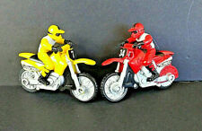 Hot Wheels Motorcycles With Riders Friction Drive Vintage Plastic Lot of 2