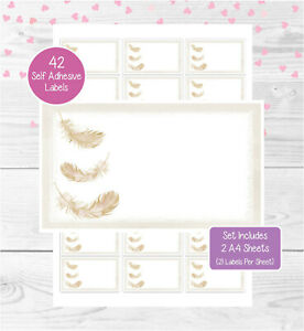 Feathers 42 Multi Purpose Stickers, Blank For Address Labels/Gift Tags