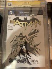 BATMAN #0 Cgc Ss 9.8 Sketch By JOE STATON we Can Be Heroes NEW 52 blank Mint