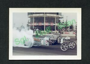 Vintage L&M films drag racing photo card Nanook Fuel Altered drag car