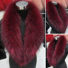 Women's Natural Big Real Fur Collar Scarf Magic Design Wrap Shawl Neck Warmmer