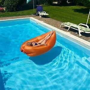 Inflatable Sun lounger Air sofa lazy Bag Lounger Sofa Sleeping Bag Orange