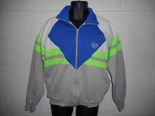 Vintage 80s 90s Neon Colorblock Slazenger Zip Up Tri-Blend Sweatshirt Jacket L