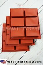 3 Set Rectangle Silicone Soap Making Molds Baking DIY Mold For Cake Bakeware