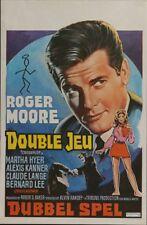 CROSSPLOT Belgian movie poster ROGER MOORE JAMES BOND 1970 NM