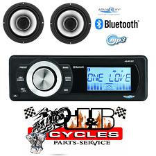 "AQUATIC AV HARLEY FACTORY REPLACEMENT BLUETOOTH MP3 USB RADIO WITH 6.5"" SPEAKERS"
