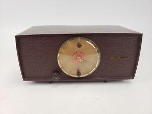 Vintage General Electric Table Clock Radio Tube Parts Repair Display AS IS #3