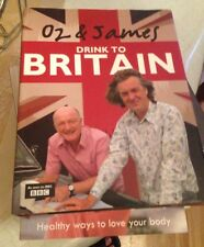 Oz and James Drink to Britain by James May Hardcover Book (English)