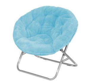 Mainstays Faux Fur Saucer Chair, Multiple Colors