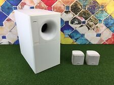Bose Acoustimass 3 Series IV Speaker System White & 2x Cube Speakers 2.1 Sub 2