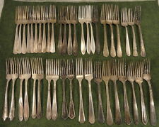 Craft 43 Assorted Dinner Forks Lot B Vintage Flatware Silverplate Silverware
