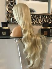 human hair Full lace wig, Swiss lace, 360 lace, Blonde 360 Kim K Wig Blonde Wig