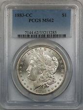 1883-CC Morgan Silver Dollar $1 Coin PCGS MS 62 (Better Coin 12-B)
