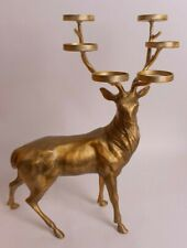NIB Pottery Barn Reindeer multi votive holder, gold, standing