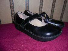 ALEGRIA DAY-640 BLACK LEATHER MARY JANE SHOES SIZE 37  US 7
